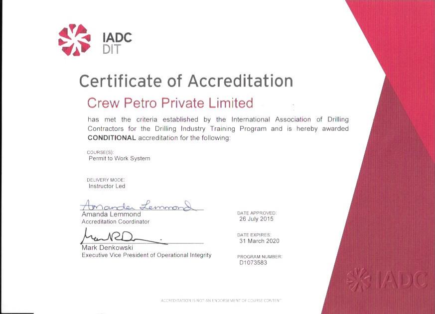 IADC DIT Permit work